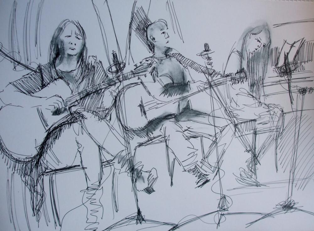Penarth Singer Songwriters Circle by Pauline Williams Art.JPG