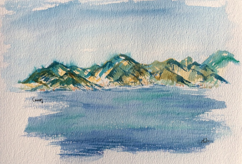 Watercolour study of Cannes.